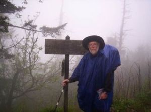 Dennis in the rain at Clingmans Dome. Wednesday, June 20, 2007